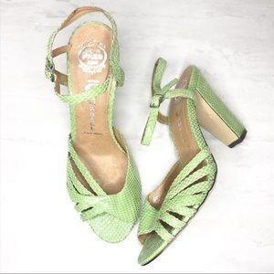 Jeffrey Campbell ankle strap chunky heel size 8